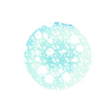 Abstract round background in shades of blue with splashes white. Winter watercolor circle. Abstract round background in shades of blue with splashes of white Royalty Free Stock Photos