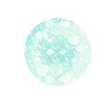 Abstract round background in shades of blue with splashes white. Winter watercolor circle. Abstract round background in shades of blue with splashes of white Royalty Free Stock Images