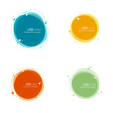 Abstract round banner Royalty Free Stock Photography