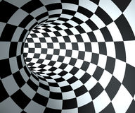 Abstract round checkered tunnel Stock Photography