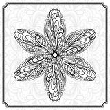 Abstract round design element. Vector abstact black and white mandala pattern stock illustration