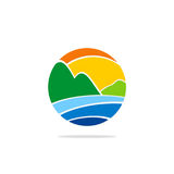 Abstract round earth environment nature logo Stock Photography