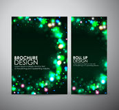 Abstract round frame design. Brochure business design template or roll up. Stock Images