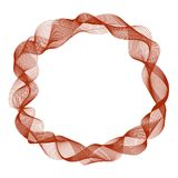 Abstract round frame with motion waves, curve red lines Stock Images