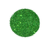 Abstract round of green glitter sparkle on white background for your design Royalty Free Stock Photos