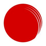 Abstract Round Icon. Red Abstract Round vector Icon Royalty Free Stock Photo
