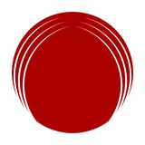 Abstract Round Icon. Red Abstract Round vector Icon Royalty Free Stock Images