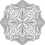 Abstract  round lace design - mandala, decorative element Royalty Free Stock Image
