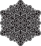 Abstract  round lace design - mandala, decorative element. Royalty Free Stock Image
