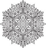 Abstract  round lace design - mandala, decorative element Stock Photography