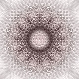Abstract Round Mandala in Monochrome gamma- square background. Abstract mandala texture with many different shapes in it. Dark Brown to light Creme White in vector illustration