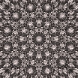 Abstract Round Mandala in Monochrome gamma- square background. Abstract mandala texture with many different shapes in it. Dark Brown to light White in center Stock Images
