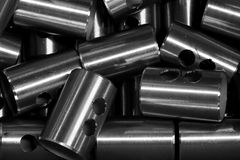 Abstract round metal tube shape Royalty Free Stock Photos