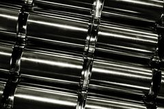 Abstract round metal tube shape Stock Image