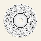 Abstract round musical background. With notes on cd for your design royalty free illustration