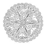 Abstract round ornament. Hand drawn doodle. Vector illustration Stock Image