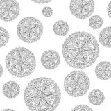 Abstract round ornament seamless. Hand drawn doodle. Vector illustration Stock Photos