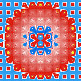 Abstract Round Pattern. A bright circular abstract pattern royalty free illustration