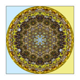Abstract Round Pattern. A bright circular abstract pattern stock illustration