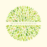 Abstract round pattern with leaves. Natural background for your design Royalty Free Stock Photo