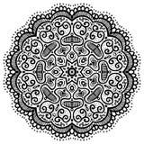 Abstract round pattern, oriental mandala Royalty Free Stock Photography
