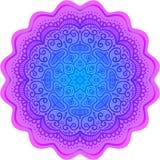 Abstract round pattern, oriental mandala Stock Photo