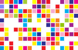 Abstract round pixel points mosaic background Stock Images