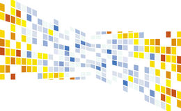 Abstract round pixel points mosaic background Stock Photos