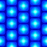 Abstract Round Rectangle Square Seamless Pattern Blue Royalty Free Stock Photos