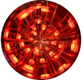 Abstract round shape with blurred leds images. Red royalty free stock image