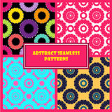 Abstract Round Shape Patterns Set Royalty Free Stock Image