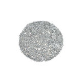 Abstract round of silver glitter sparkle on white background for your design Royalty Free Stock Images