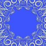 White round frame on blue Stock Photo
