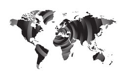 Abstract round world map. Modern abstract round world map Royalty Free Stock Images