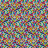 Abstract rounded pixel mosaic, colored background Royalty Free Stock Image