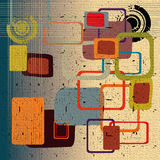 Abstract rounded squares. Abstract grunge illustration with colorful rounded squares Stock Photo