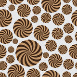 Abstract rounded striped circle seamless pattern eps10 Stock Photography