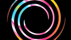 Abstract rounded twisted abstract circular cosmic rainbow striped magical unusual gradient texture from multi-colored lines. And spirals, stripes. The vector illustration