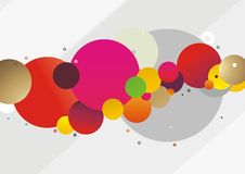 Abstract rounds. Trendy illustration with group of abstract colored rounds on the light grey background Stock Images