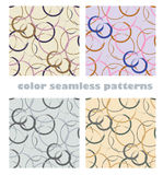 Abstract rounds seamless patterns Royalty Free Stock Image