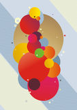 Abstract rounds2. Trendy illustration with group of abstract colored rounds on the light grey background Royalty Free Stock Image