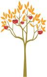 Abstract Rowan Tree royalty-vrije illustratie