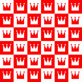 Abstract royal seamless pattern. Abstract royal seamless pattern made of crowns. Vector format added stock illustration