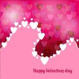 Abstract roze Als achtergrond met harten royalty-vrije illustratie