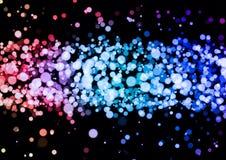 Abstract roze blauw purper kleuren bokeh behang Stock Foto