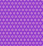 Abstract roze blauw wit bloembehang Stock Afbeelding