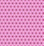Abstract roze blauw wit bloembehang Stock Fotografie