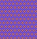 Abstract roze blauw wit bloembehang Stock Afbeeldingen