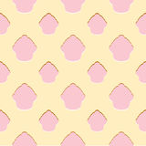 Abstract roze cupcake naadloos patroon Royalty-vrije Stock Afbeeldingen