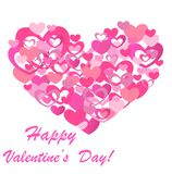 Abstract roze hart Royalty-vrije Stock Foto's